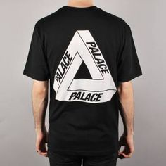 Palace Skateboards Palace Tri-Ferg Glow Skate T-Shirt - Black - Palace Skateboards from Native Skate Store UK