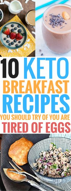 These ketogenic breakfast recipes are THE BEST! I'm so glad I found these easy keto breakfast recipes for mornings with no eggs! Now I can really have some healthy and quick breakfast ideas and still lose weight not he keto diet! Definitely pinning this for later! #keto #ketogenicdiet #ketorecipes #food #recipes #breakfast