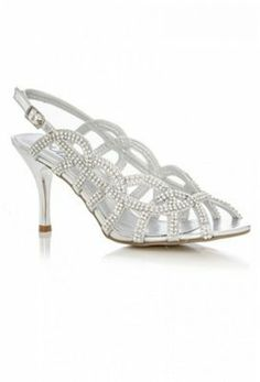 e7bc66b414e Quiz Silver Diamante Multi Side Strap Sandals on shopstyle.co.uk Bridesmaid  Shoes