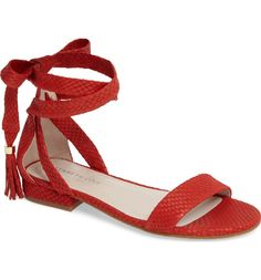Main Image - Kenneth Cole New York Valen Tassel Lace-Up Sandal (Women)