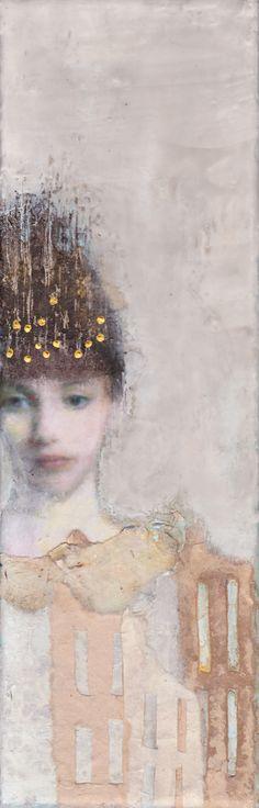 Veronique Paquereau, Princess, Gemengde techniek op doek, 30x10 cm, €.150,-