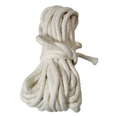 BTC Parlor Rope 50 ft. (extra white) - These ropes are 10mm or 3/8' thick. Cotton braided with core, pure white, soft and loose. Best choice for parlor or get it here: http://www.wizardhq.com/servlet/the-14867/btc-parlor-rope-50-ft-extra-white/Detail?source=pintrest
