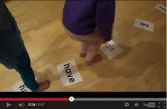 Sight Word Workout! Great way to develop sight word fitness!