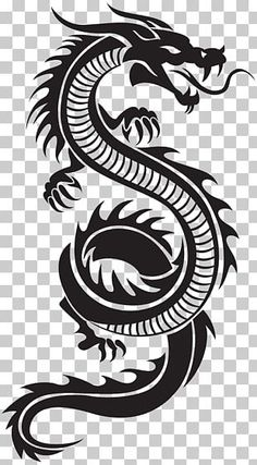 - black dragon illustration, China Chinese dragon Chinese characters , Chinese style transparent back - Dragon Chino Tattoo, Tribal Dragon Tattoos, Small Dragon Tattoos, Chinese Dragon Tattoos, Dragon Tattoo Designs, Small Tattoos, Tribal Animal Tattoos, Book Design Graphique, Illustration Design Graphique