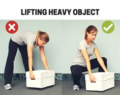 How to Lift heave object properly