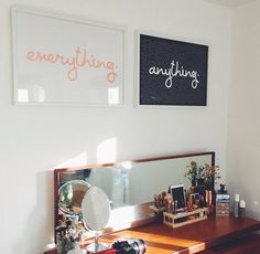 Anything/everything. Zoella's bedroom table and wall. I need those type of…