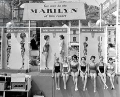Marilyn Monroe look-a-like competition.  Hastings, UK c.1958