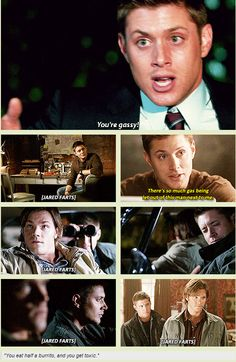 [GIFSET] Jared's gassy but the joke's always on Jensen, lol!>>> How the hell he keeps a straight face is beyond me