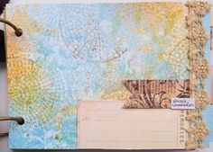 Page of Sharon Laakkonen's Mixed Media Mini-Album Workshop using my Stampendous Signature Stamps. Life at Full Speed Ahead