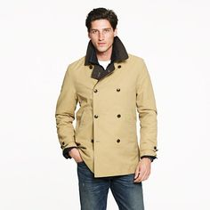 Hunting peacoat - cotton - Men's outerwear - J.Crew