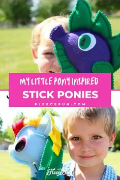 Discover how to make My Little Pony-inspired stick ponies. These stick ponies are easy to make and are even great kid crafting projects. Free pattern available. This step-by-step tutorial will have your project complete in no time. Perfect handmade gift idea. The stick ponies are also great for parties. Creative Crafts, Easy Crafts, Crafts For Kids, Modern Sewing Projects, Craft Projects, Craft Ideas, Old Pillows, Pattern Pictures, Sewing Basics