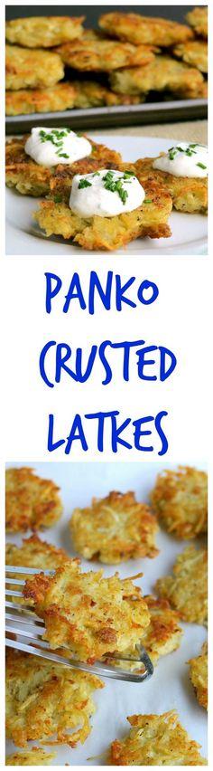 Panko Crusted Latkes from NoblePig.com