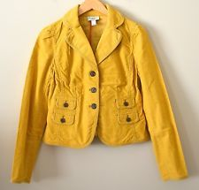 Adorbs -- yellow Ann Taylor Loft Corduroy Blazer -- worn maybe once,  Size 12 (too hot for me now!)