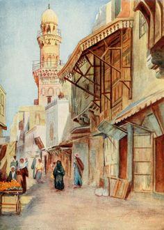 Tyrwhitt, Walter (1859-1932) - Cairo, Jerusalem, and Damascus 1912, Mosque of Sultan Bibars, Cairo. #egypt