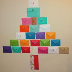 DIY: Make A Last-Minute Holiday Activity Advent Calendar Using Recycled Envelopes | Inhabitots