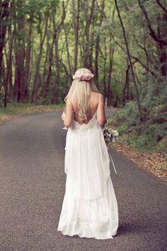Lisa Brown boho wedding dress