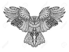free owl advanced coloring page