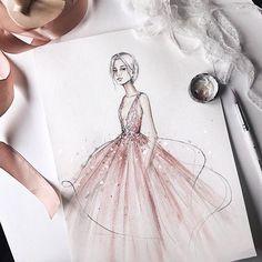 Fashion illustration by @marina_oberlin fashion sketch, drawing, art #sketch #fashionsketch