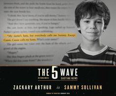Zackary Arthur as Sammy Sullivan in The Fifth Wave The 5th Wave Movie, The Fifth Wave Book, The 5th Wave 2016, The 5th Wave Series, No Wave, I Love Books, Good Books, This Book, A 5ª Onda