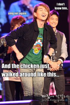 Onew is all about chickens...