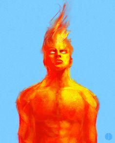 Human Torch by John Aslarona