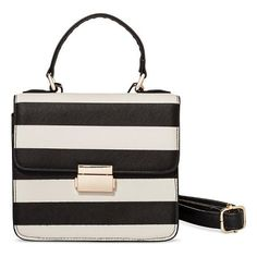 Women's Striped Top Handle Bag - Who What Wear