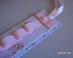 Porta Tiaras Floral Rosa