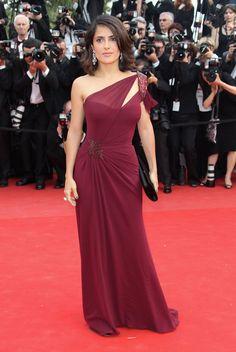 2010 Cannes Film Festival - Salma Hayek in Gucci Première