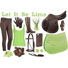 """Let It Be Lime"" Riding Outfit Collection"