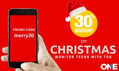TheOneSpy has limited offered 30 percent discount at Christmas on its all products. Keep an additional eye on teen's activities by getting TOS code merry30.