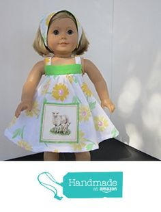4H Farmgirl Mama & Baby Sheep Sundress + Reversible Head Scarf fits American Girl from Pawprint Pals https://www.amazon.com/dp/B06X1525KW/ref=hnd_sw_r_pi_dp_Pc8Myb0EKEZZ7 #handmadeatamazon