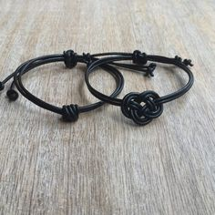 Couples Bracelets, His and her Bracelet, Couples Jewelry, Leather Couple Bracelets, His and Hers Gift, Love Bracelet, Matching Infinity Knot