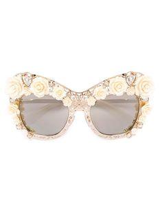 DOLCE & GABBANA Lace Boutique Sunglasses. #dolcegabbana #sunglasses