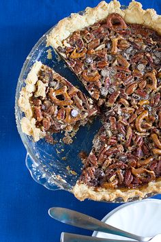 Chocolate Pretzel Pecan Pie | Culinary Covers