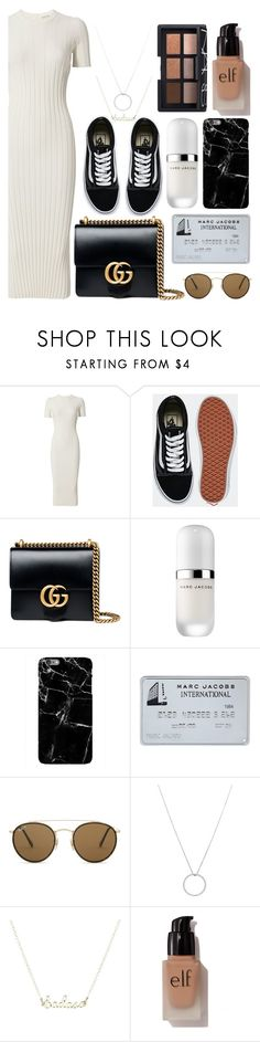 """Untitled #122"" by georgialanexo ❤ liked on Polyvore featuring Helmut Lang, Vans, Gucci, Marc Jacobs, Harper & Blake, Ray-Ban, Roberto Coin, e.l.f. and NARS Cosmetics"