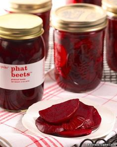 Phat Beets || Ginger, rosemary, allspice, cinnamon, and cloves infuse the lightly sweetened cider vinegar brine for these irresistible pickled beets.