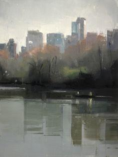 Central Park Lake 4 by Lisa Breslow