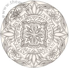 Printable Art Work | ... art line mandalas and tagged birth art childbirth coloring books doula