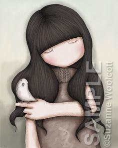 I Know You WIll Leave Me - 8 x 10 Giclee Fine Art Print - Gorjuss Art