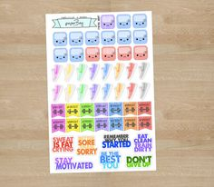 Set of Workout Planner Stickers UPDATED by paperbey on Etsy