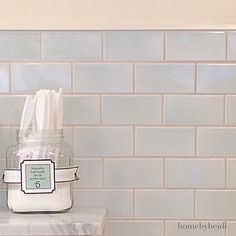 """""""Still obsessing over this tile inside the magnolia bakery in NYC. I found so much design inspiration in that city!! ❤️ #tile #design #blue #love…"""""""