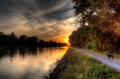 Sunset on the Erie Canal Brockport