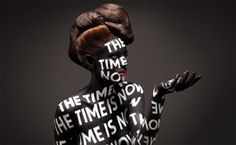 Typography Bodypainting by Aizone