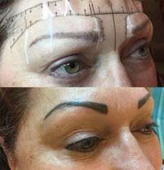 Permanent Cosmetics Eyebrow Tattoo - Before & After Photos Permanent Eyebrow Tattoo, Permanent Makeup Eyebrows, Eyebrow Makeup, Beauty Makeup, Before After Photo, Tattoo Eyebrows, Cosmetics, Tattoos, Eyebrow Tattoo