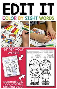 Editable Sight Word Activities.  Love sight word activities, but hate that you can't edit them so that they are perfect for your students?  Try this FREEBIE!  You'll see how easy it is to have great sight word activities that are perfect for YOU.