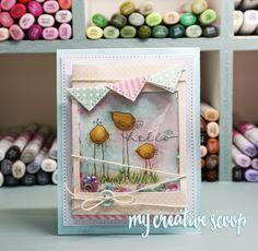 Hello Shaker Card - My Creative Scoop
