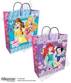 Bolsa Regalo Princesas http://envoltura.papelesprimavera.com/product/bolsa-regalo-personajes-princesas-5/