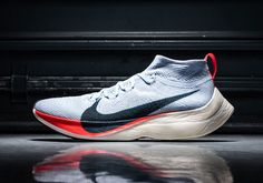 The Nike Zoom VaporFly Elite is Nike's latest effort to create a sub-2 hour marathon time featuring an updated ZoomX midsole and Flyknit