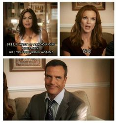 Bree and Karl! I personally think they were the best couple! Perfect Couple, Best Couple, Desperate Housewives Quotes, Thing 1, Bree Van De Kamp, Marcia Cross, Tv Quotes, Boy Meets, Me Tv