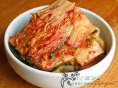 Korean traditional food, Kimchi! You must have heard of this before. It's very healthy, a little spicy. Made of Chinese cabbages, red peppers, salt and some other stuff depending on personal taste.